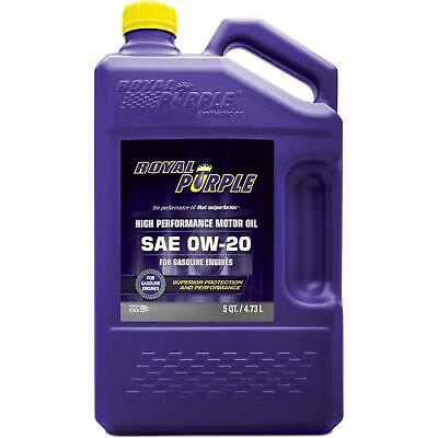 Royal Purple 51020 API-Licensed SAE 0W-20 High Performance Synthetic Motor Oil -