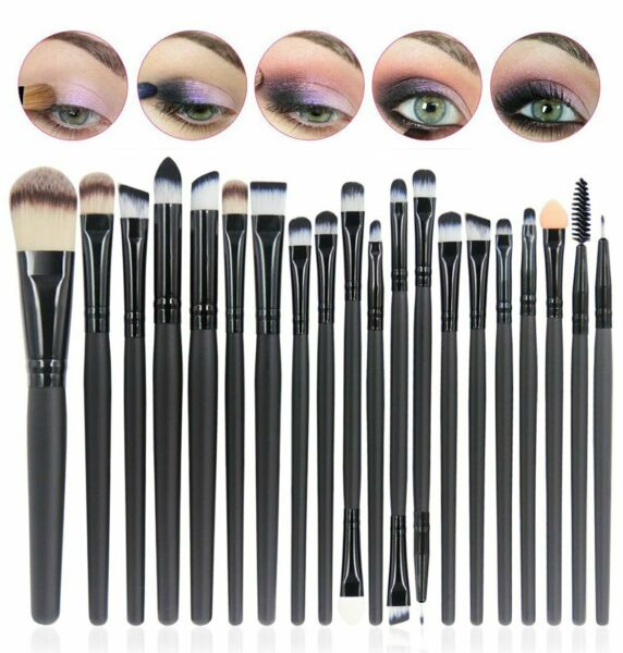 SET 20 PENNELLI PROFESSIONALI PER MAKE-UP, PENNELLO TRUCCO + OMBRETTO + FARD