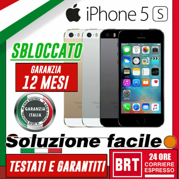 SMARTPHONE APPLE IPHONE 5S 16GB/32GB/64GB RIGENERATO_ORIGINALE! 12 MESI GARANZIA