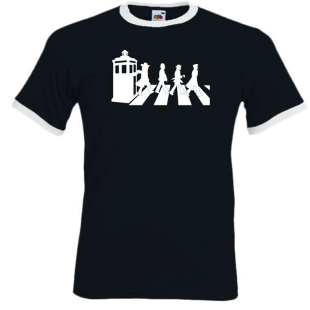 img-Dr Who - Abbey Road - Mens Funny T-Shirt Parody Mash Up Gallifrey The Beatles