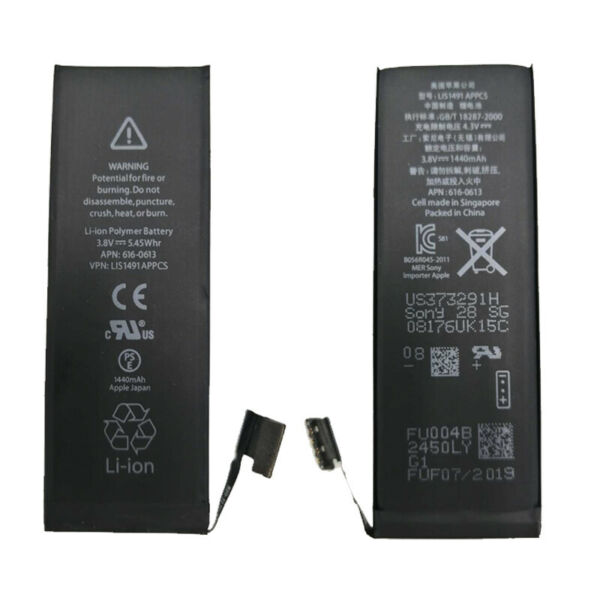 BATTERIA BATTERY APPLE IPHONE 5G 5 CAPACITA' ORIGINALE APN COMPATIBILE 1440 MAH