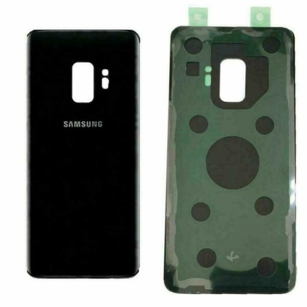 BACK COVER SCOCCA POSTERIORE PER SAMSUNG S9 PLUS SM-G965 nero black ORIGINALE