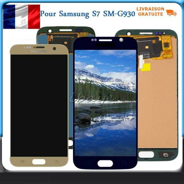 Ecran LCD Vitre Tactile Pour Samsung Galaxy S7 G930F SM-G930F Complet Display