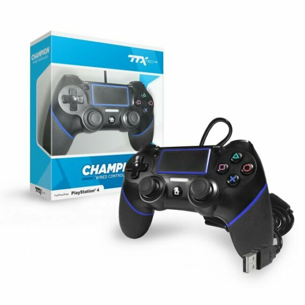 CONTROLLER PRO CHAMPION WIRED CONTROLLER USB PS4 NUOVO DUALSHOCK 4 COMPATIBILE