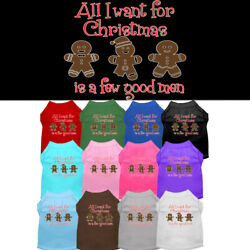 All I Want for Christmas is A Few Good Men Dog Shirt  Pet Clothing Christmas