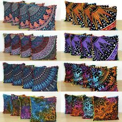 Kyпить 32 Pcs. Wholesale Lot 16x16 Inch Indian Cotton Home Decorative Cushion Covers на еВаy.соm