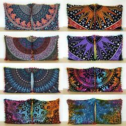 Kyпить Wholesale Lot 16x16 Inch Indian Cotton Home Decorative Cushion Covers 12 Pcs. на еВаy.соm