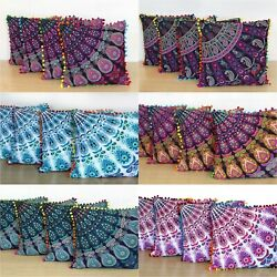 Kyпить Wholesale Lot 16x16 Inch Indian Cotton Home Decorative Cushion Covers 24 Pcs. на еВаy.соm