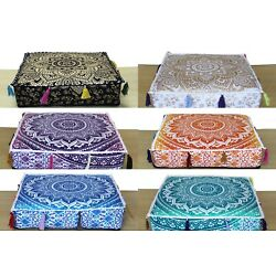Kyпить 20 Pcs Wholesale Lots Indian Ombre Mandala Floor Cushion Covers Home Decorative на еВаy.соm