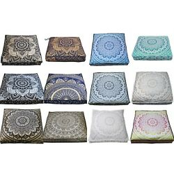 Kyпить Wholesale Lots 15 Pcs Indian Ombre Mandala Floor Cushion Covers Home Decorative на еВаy.соm