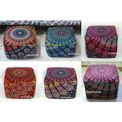 Kyпить 10 Pcs. Wholesale lots Mandala Square Indian Handmade Footstool Seating Covers на еВаy.соm