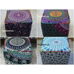 Kyпить 5 Pcs. Wholesale lots Mandala Square Indian Handmade Footstool Seating Covers на еВаy.соm