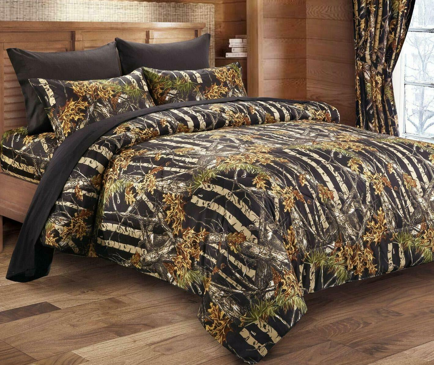 Comforters Sets Home Garden Woodland Queen Size 12pc Set Woods Camo Comforter Sheet Set Camouflage Bedding Adrp Fournitures Fr