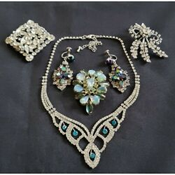 Kyпить Lot of vintage rhinestone necklace earrings brooches  на еВаy.соm