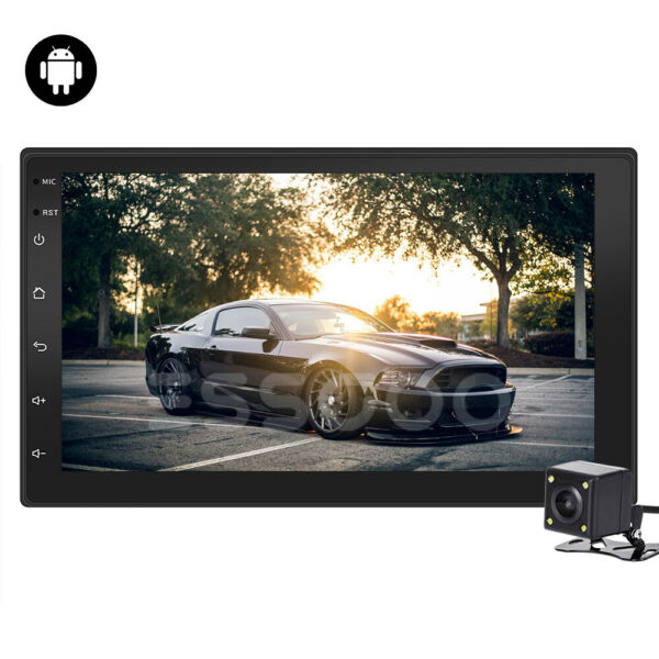 2 Din 7'' Car Autoradio Android 8.1 Navigatore GPS Bluetooth WIFI USB FM Radio