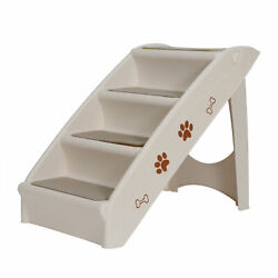 Kyпить Foldable Pet Stairs 4 Non-slip Steps Dog Ladder w/ Support Frame for High Bed на еВаy.соm