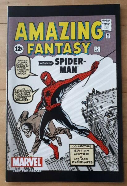 Comics Amazing Fantasy SPIDER-MAN 1962 Fac-similé collector MARVEL,1ère Aventure