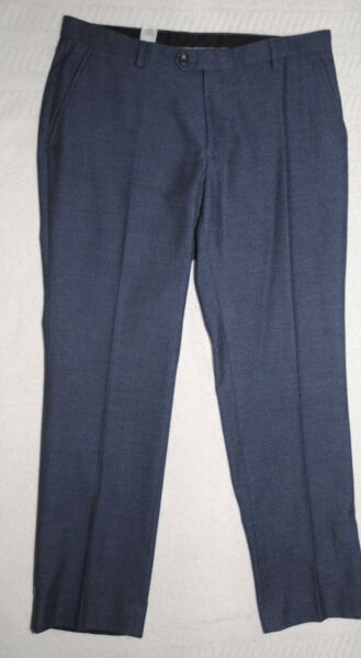 Next Tailoring Mens Navy Blue & White Fleck Trousers Size 34s