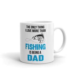 Only Thing I Love More Than Fishing Coffee Tea Ceramic Mug Office Work Cup