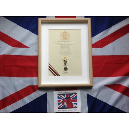 img-REME Oath Of Allegiance (framed with Cap Badge)
