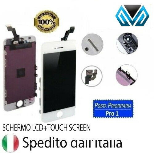 TOUCH SCREEN FRAME VETRO LCD DISPLAY RETINA SCHERMO APPLE IPHONE SE BIANCO