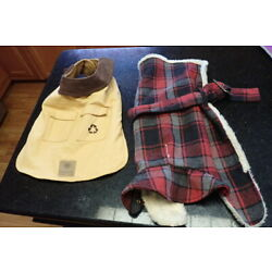 2 Dog Coats Winter Small Breed 15-20 Lb Excellent AKC Fur Lined American Kennel