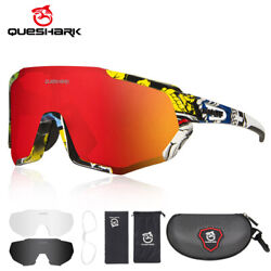 Kyпить Queshark 2020 New Polarized Cycling Sunglasses Bike Glasses Goggles with 3 Lens на еВаy.соm