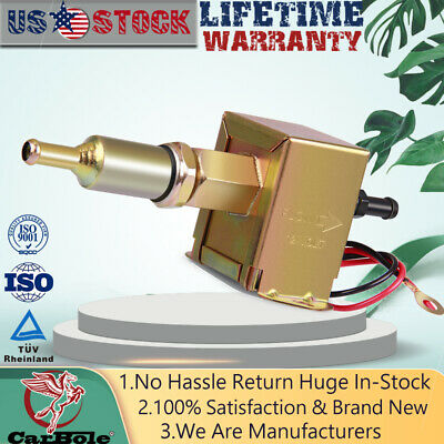 Inline Electric Fuel Pump Universal 12V Low Pressure 2.5-4 PSI E8012S Gas Diesel