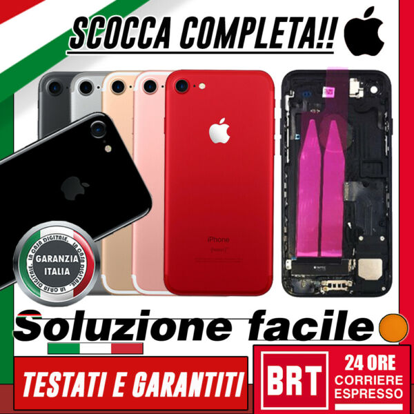 SCOCCA POSTERIORE+FLEX+FRAME COMPLETA PER APPLE IPHONE 7 TELAIO FLAT BACK COVER