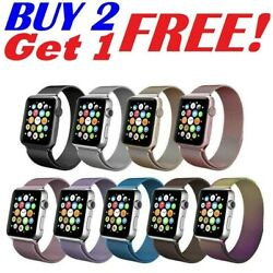 Kyпить 38 42 40 44mm For Apple Watch 5/4/3/2/1 Magnetic Milanese Loop Band iWatch Strap на еВаy.соm