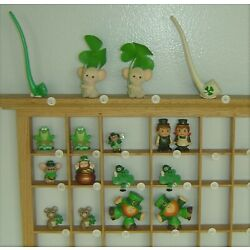 Kyпить Hallmark St Patrick's Merry Miniature Frog Leprechaun Mouse Bear Gold Pipe Lot на еВаy.соm