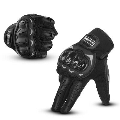 Pair Touch Screen Motorcycle Full Finger Gloves Motorbike Racing Moto Driving