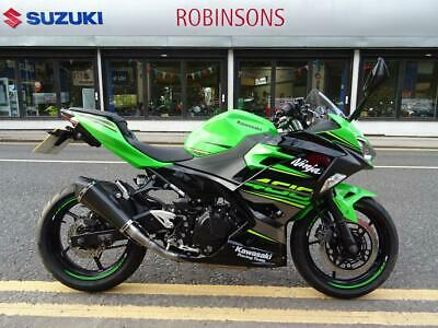 2018 18 plate Kawasaki Ninja 400 KRT 8078 miles fitted with a carbon exhaust