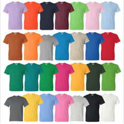 Kyпить Gildan Cotton T-Shirts 5.3oz Blank Solid Short Sleeve Tee S-2XL ,,Style# 5000 на еВаy.соm
