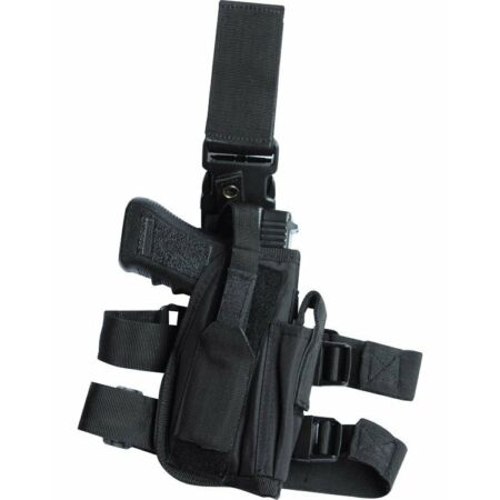 img-Black Pistol Leg Holster Tactical Military Security Swat Police Army SAS Right