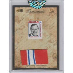 2018 Bar Pieces Past Hybrid National Edition George Bush Stamp Pennant Relic B