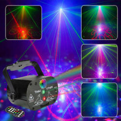Kyпить 60 Patterns Projector LED RGB Laser Stage Light DJ Disco KTV Show Party Lighting на еВаy.соm