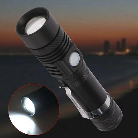 img-Mini LED Flashlight USB Rechargeable Tactical Camping Light 18650 Lamp Torch