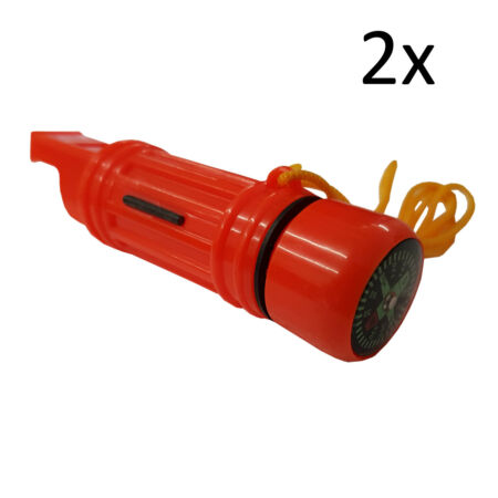 img-2 x CAMPING WHISTLE COMPASS survival kit match holder hiking compasses caravan