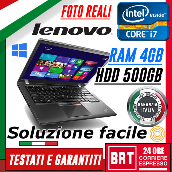PC NOTEBOOK PORTATILE LENOVO THINKPAD X250 12.5