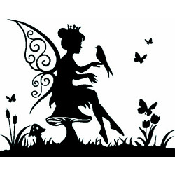 Vinyl Fairy Sticker/Wall/Laptop/Tablet /Car Decal + More Colors