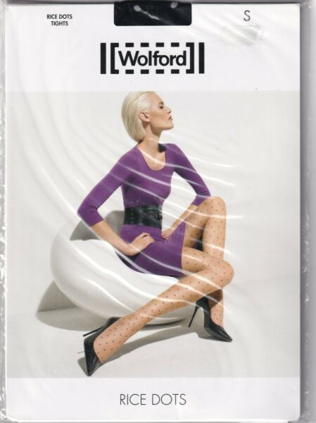 Paris,FranceCollant WOLFORD RICE DOTS  Black/White. Taille S. Tights.