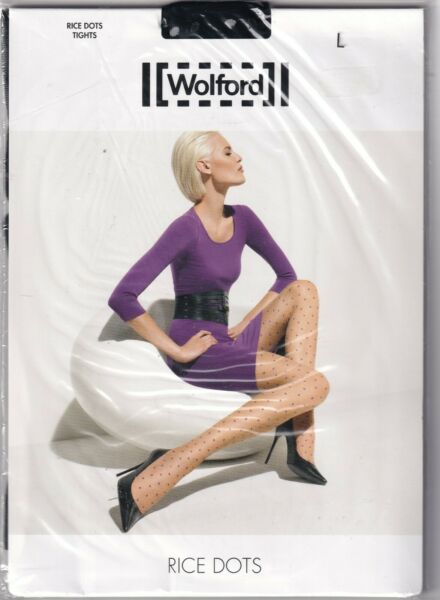 Paris,FranceCollant WOLFORD RICE DOTS  Black/White. Taille L. Tights.