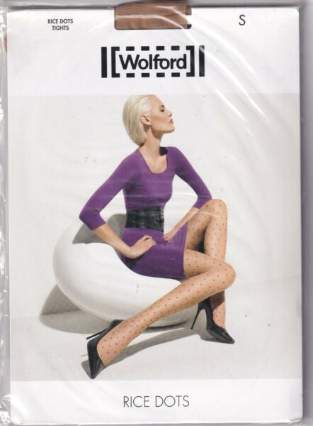 Paris,FranceCollant WOLFORD RICE DOTS  Sahara/Purple. Taille S. Tights.