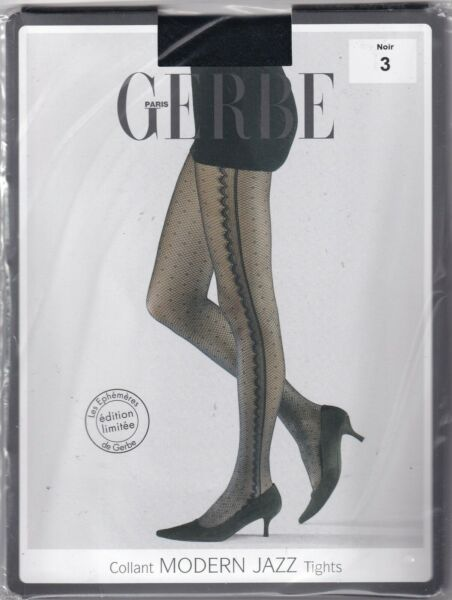 Paris,FranceCollant GERBE MODERN JAZZ  Noir. Taille 3 - 9½. Limited Edition tights.