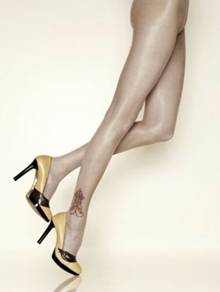 Paris,FranceCollant GERBE TATTOO  Poudre/Beige. Taille 2 - 9. Tights.
