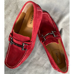 MENS Alfani Red Leather James Suede shoes Sleep On Size 7.5