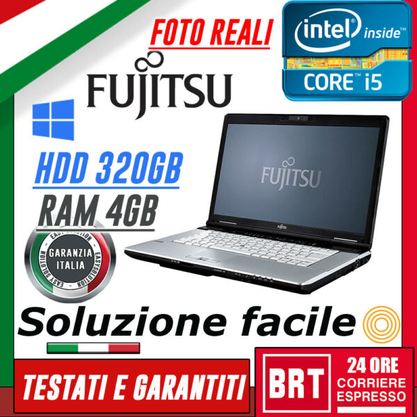 *PC NOTEBOOK PORTATILE FUJITSU LIFEBOOK S751 14