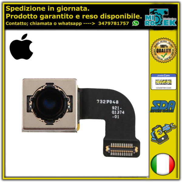 FOTOCAMERA FLEX FLAT POSTERIORE BACK CAMERA PER APPLE IPHONE 8 ORIGINALE