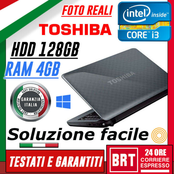 PC NOTEBOOK PORTATILE TOSHIBA SATELLITE L745 13